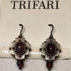 NWT Vintage Trifari 14k Gold Filled Wires Purple